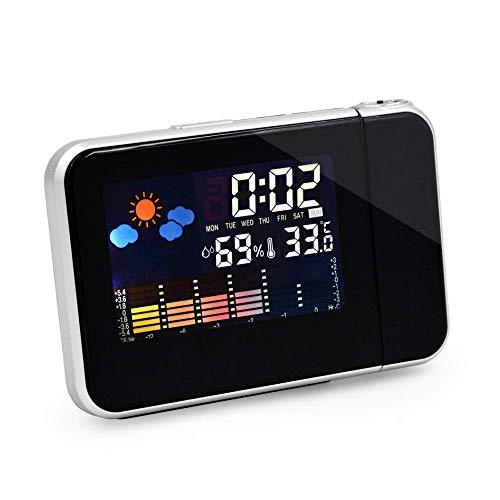 Khool® Despertador Digital con Estación Meteorológica y Proyección de la Hora. Versión Mejorada 2019