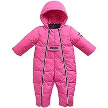 Bebé con Capucha Mamelucos Trajes de Nieve Jumpsuit Winter Outfits Cremalleras Dobles Delanteras