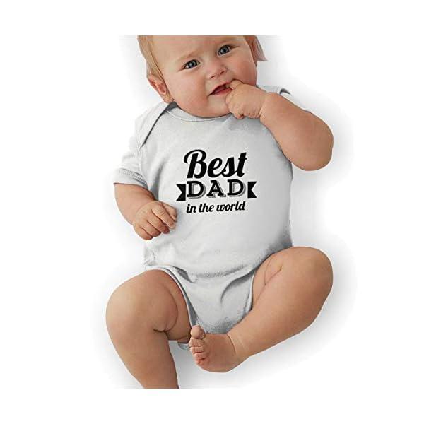 FAFANIQ The Best Dad of The World Unisex Baby Short Sleeve Bodysuit 1