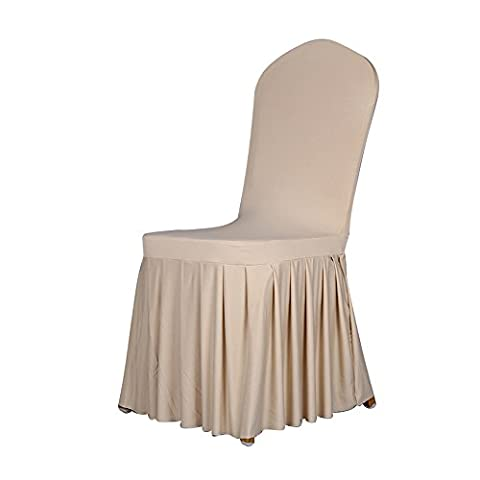 Starworld Elegant Damask Chair Cover, Thicken Soft Seat Covers for Wedding Party Banqueting Hotel Decoration /