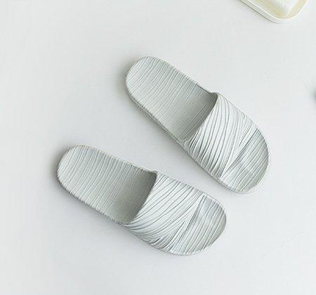GOZAR Home Interno Coppia Non-Slip Bagno Pantofole Donna Estate Casa Soft Bottom Balneazione Uomini Sandali-Pink 39-40 Blu-grigio