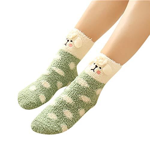 Zolimx Weihnachtssocken Damen Herren Warmer Plüsch Soft Fluffy Korallensamt Korallensamt Cosy Socks