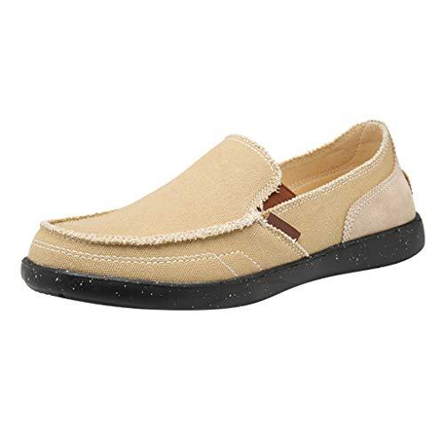 Tubular Deck (TWISFER Herren Canvans Slip on Sneakers Boot Deck Classic Low Top Fashion Schlupfschuhe Bequeme Schuhe)