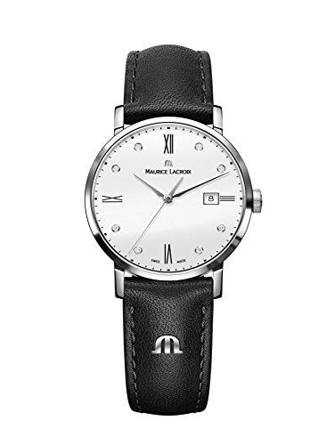 Maurice Lacroix Eliros Date Ladies Quartz Uhr, Weiss, 30mm, EL1084-SS001-150-1