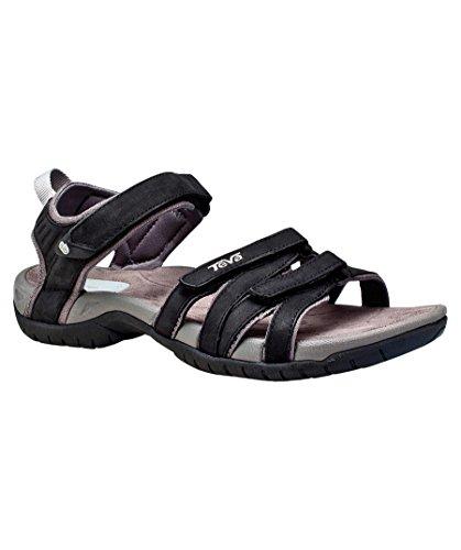 Teva Tirra Leather W's Damen Sport- & Outdoor Sandalen schwarz (200)