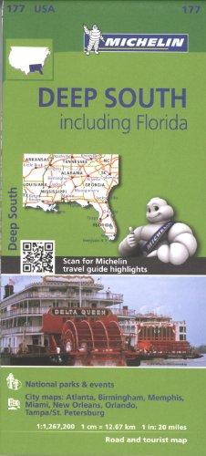 Michelin USA Deep South Including Florida Map 177 por Michelin
