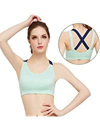 5c8bca905aa87 Ailin home- No steel ring girls bra running fitness yoga sports bra  underwear women