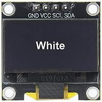 "4 Pines 0,96"" Blanco/Azul/Amarillo Azul 0,96 Pulgadas OLED 128X64 OLED módulo de visualización 0,96"" IIC I2C Comunicar for Arduino (Color : New Version White)"