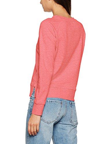 ONLY Damen Sweatshirt Onllotus Ls O-Neck Noos Rosa (Calypso Coral Detail:Melange)