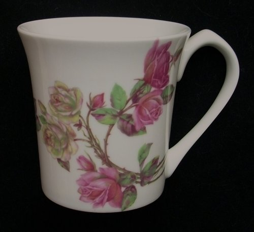 Aynsley China Set of 6 Fine Bone China Elizabeth Rose York Mugs