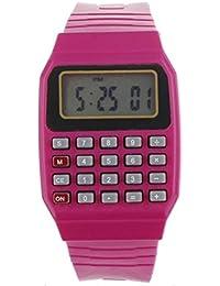 19c45825b132 Cebbay Reloj para niños Unisex de Silicona Multi-Propósito Fecha Hora  Calculadora de Pulsera electrónica Reloj…