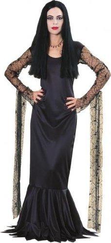 Imagen de morticia addams family tm fancy dress costume  medium size disfraz