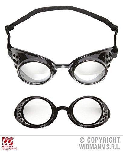 BRILLE - FLIEGER -, Fliegerbrille Schutzbrille Retro 20er Jahre Pionier Kampfflieger Labor (Flieger Kostüm Für Damen)