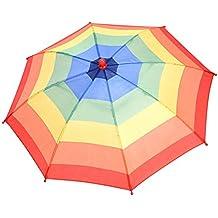 Sombrero de Paraguas Multicolor Sombrero de Sombrilla de Arco Irís al Aire Libre Gorro de Paraguas
