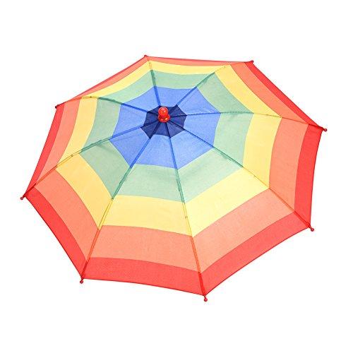 Scherzhut Regenschirm Hut Faltbarer Sonnenschirm Regenschirm Hut in zufälliger Farbe für Outdoor-Aktivitäten wie Angeln Party (Hut In Den)