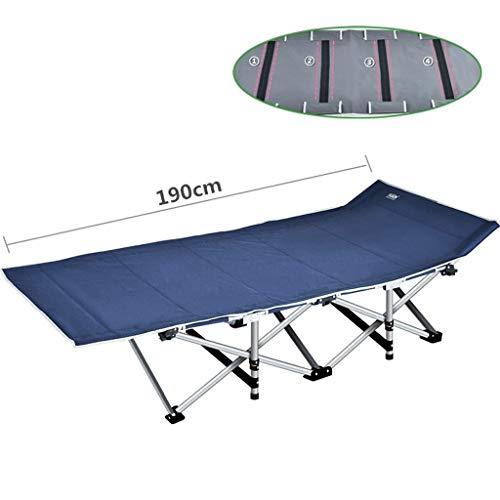 A-Qnice Klapp Angeln Camping Bett Schlafen Tragbare Rucksack Zelt für Indoor Möbel Outdoor Reise Wandern Jagd (Farbe : Blau)