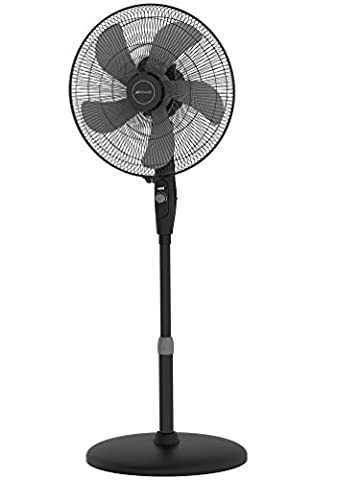 Bionaire High Performance Electrical 16-Inch Oscillating Pedestal Stand Fan, Black