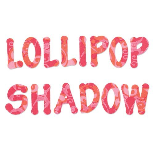 Sizzix Bigz Alfabeto Set di Fustelle, Lollipop Shadow Lettere Maiuscole