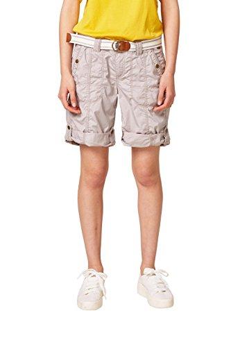 edc by ESPRIT Damen Bermuda 038CC1C001, Grau (Light Grey 040), - Damen Cargo Shorts