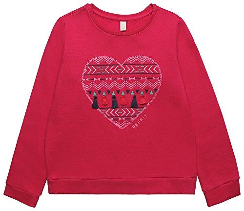 ESPRIT KIDS Mädchen RK15003 Sweatshirt, Rosa (Raspberry 393), 116 -