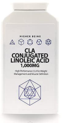 CLA Conjugated Linoleic Acid Capsules (90)   1,000mg   High Performance CLA for Weight Management and Muscle Definition   Support Lean Muscle Growth   Reduce Body Fat   Made in the UK to GMP Standards for Higher Being