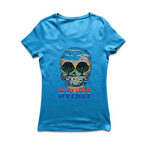 Frauen T-Shirt der Natur-Schädel - retten Sie den -
