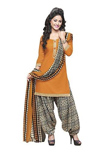EthnicJunction-Womens-Cotton-Patiala-Unstitched-Suits-Collection-Orange-EJ1111-111017