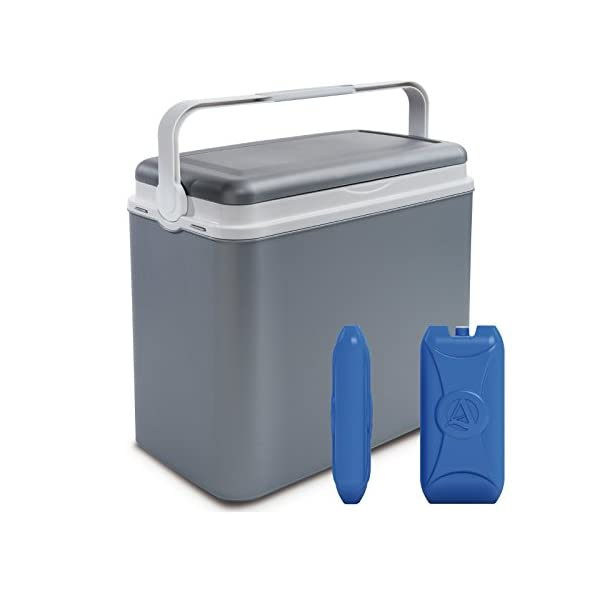 ADRIATIC Large 24 Litre Cooler Box Camping Beach Lunch Picnic Insulated Food+ 2 Ice Packs 1