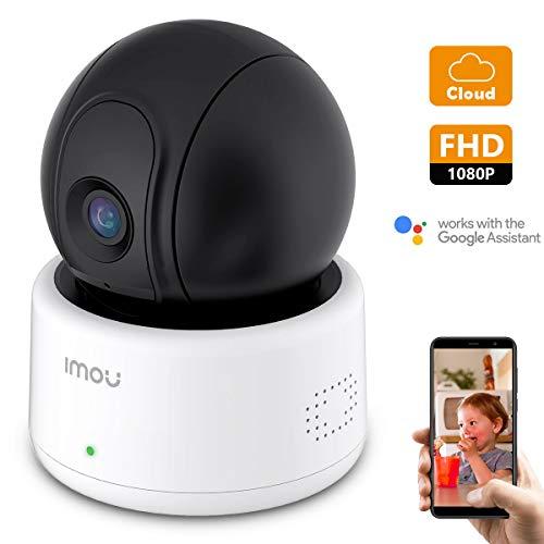 Telecamera di sicurezza Imou, telecamera Wi-Fi IP da 1080p, telecamera dome PT, telecamera di sorveglianza Advanced Home con rilevamento del movimento, audio bidirezionale e visione notturna