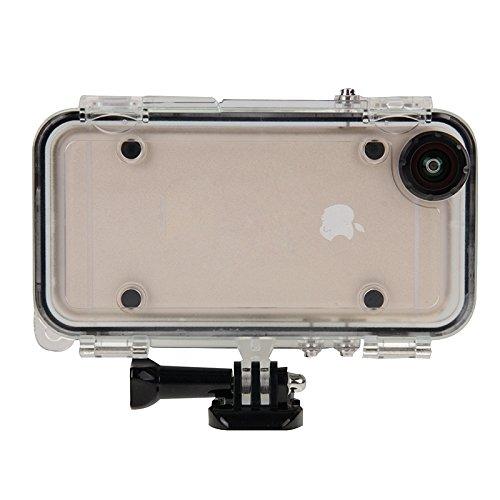 Für iPhone 4,7 Zoll Fall, Für iPhone 6 & 6s, Kompatibel mit GoPro Zubehör Extreme Sports Wasserdichtes Gehäuse mit 170 Grad Weitwinkelobjektiv (4,7 Zoll) ( Color : Black )