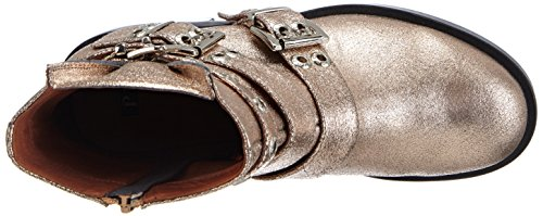 P1 Detroit Damen Biker Boots Gold (champagne)