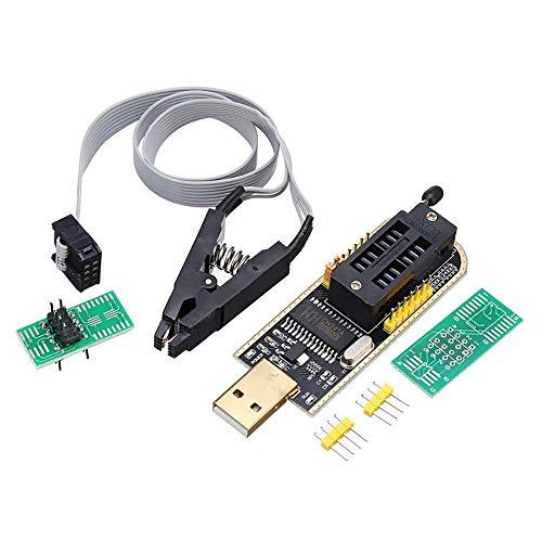 xiegons0 CH341A Modul Mainboard USB Professionell Programmierer, CH341A Modul Mainboard Eeprom Flash Test Clip Bios, Passend für Amateur Programmierer 24 und 25 Serie Flash - Ch341a, Free Size