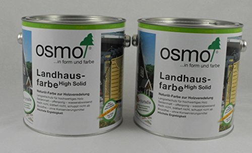 Osmo Spar-Set 2x Landhausfarbe Nr. 2704 Steingrau 2,5l, Holzanstrich