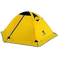 GEERTOP Tente de Camping Dôme Trekking Léger Imperméable - 140 x 210 x 115 cm (2,59kg) - 2 Personnes 4 Saisons Pour Camping Randonnée