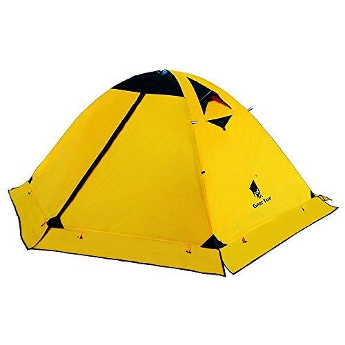 GEERTOP® 2-Personen 4-Jahreszeiten Aluminiumstangen Wasserdichten Camping Kuppelzelt (140 x 210 x 115 cm), Ideal für Camping, Beim Klettern und Jagen