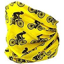 Ciclista Diseño Amarillo Y NEGRO BRAGA BUFANDA - ruffnek Multifuncional Calentador Cuello ciclismo, Máscara de esquí - hombre, mujer & Infantil