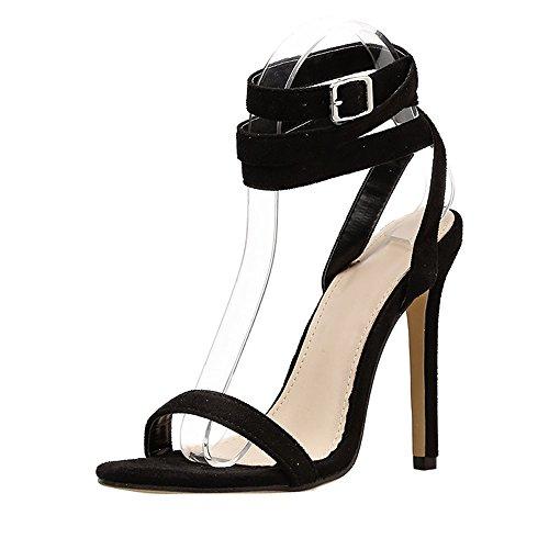 Scarpe col tacco — elegante moda vintage sexy tacchi alti con fibbia della cintura sandali estivi donna con tacco alto per feste viaggio party