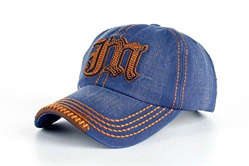 Funny hat Unisexe Coton Loisirs Broderie Baseball/Casual Outdoor Sport Sanpback Jeans Casquette avec Broderie Lettre M