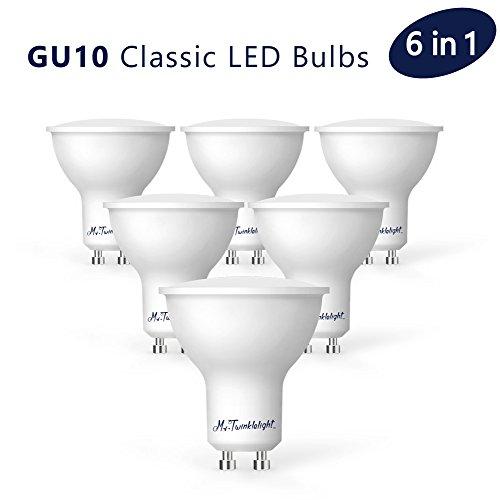 Preisvergleich Produktbild GU10 LED Lampe, Mr.Twinklelight 6er Pack [Energieklasse A++], ersetzt 40W Halogenlampen, Nicht Dimmbar LED Bulbs, warmweiß (3000 Kelvin), 380 Lumen