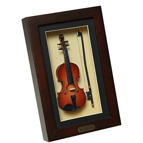 Ambiente Haus 81019 Wandschmuck Geige im Rahmen 22 x 14 cm