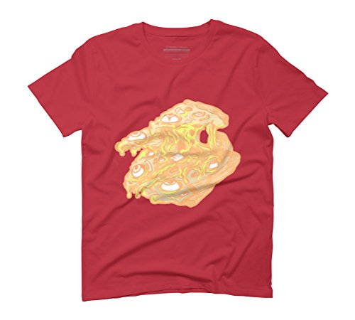 Zombie Pizza Men's Graphic T-Shirt - Design By Humans Red