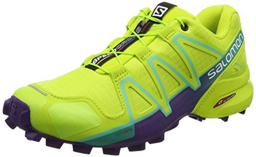 Salomon Damen Speedcross 4 Traillaufschuhe, Mehrfarbig (Lime Punch/Biscay Green), 38 EU (Fun Punch)