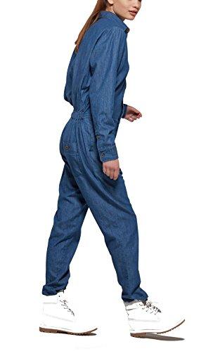 OnePiece Damen Jumpsuit Momentum, Blau (Denim Blue), 36 (Herstellergröße: S) - 4