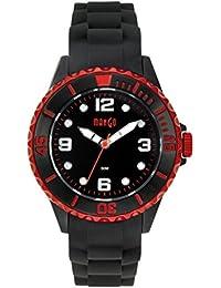 Mango A68353-3SS5KV - Reloj para mujeres, correa de silicona color negro