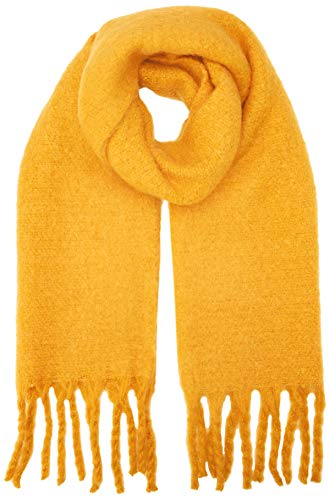 New Look Damen Boucle Schal, Gelb (Bright Yellow 85), One Size -