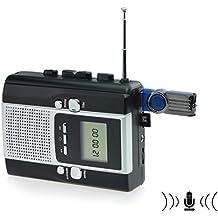 DigitNow! Kassettenband zu Mp3 Konverter u. Radio zu Mp3 Recorder mit Sprachaufzeichnungs-Eigenschaft, benutzt als walkman. Spielkassette und Klebeband, direkt Aufzeichnungskassette, Radio zu TF-Karte oder U-disk.No Notwendigkeit PC. Keine Notwendigkeit Software.