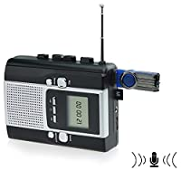 DigitNow! Portable Radio Cassette Recorder - Cassette Tape to Mp3 Converter & Radio to Mp3 Recorder with Voice Recording Feature,Used as a walkman.