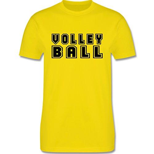 Volleyball - Volleyball Schriftzug - Herren Premium T-Shirt Lemon Gelb