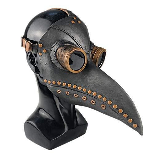 Forart Plague Doctor Vogel Maske lange Nase Schnabel Cosplay Retro Steampunk Requisiten für Halloween Kostüm - Vogel Schnabel Maske Kostüm