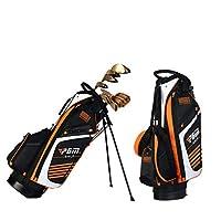 LXYIUN Bolsa De Golf,Ultraligero Alta Capacidad Bolsa De Pistola De Soporte,Orange